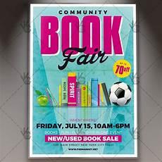 Flyers Book Community Book Fair Premium Flyer Psd Template Psdmarket