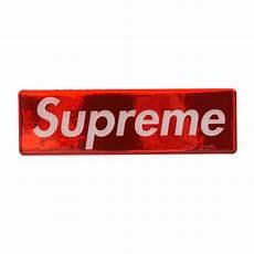 supreme logo supreme raised plastic box logo sticker millioncart