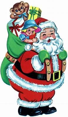 Free Christmas Free Christmas Picture Retro Santa With Toys The
