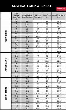 Junior Skates Size Chart Ccm Skates Size Chart Hockey Size Skatepro