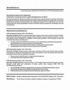 Executive Assistant Objective Executive Assistant Resume Is Made For Those Professional