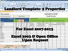 Property Management Templates Excel Landlord Rental Income And Expenses Tracking Spreadsheet