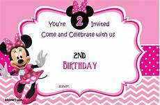 Minnie Mouse Birthday Invitations Free Free Minnie Mouse 2nd Birthday Invitation Template Free