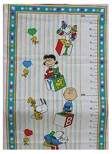 Peanuts Growth Chart Peanuts Snoopy 5 Ft Growth Chart Fabric Panel Lucy Charlie