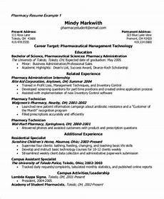 Pharmacy Resume Student Resume Example 7 Samples In Word Pdf