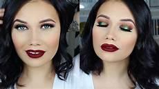makeup christmas green makeup tutorial