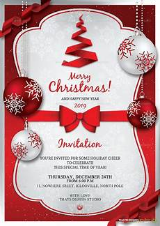 Holiday Party Invitations Template 37 Christmas Invitation Templates Psd Ai Word Free