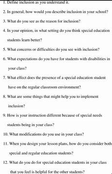 Interview Questions For Special Education Teachers Top 150 Best Special Education Teacher Interview
