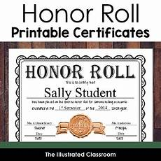 Honor Roll Certificate Templates Editable Honor Roll Certificates Gold Silver And