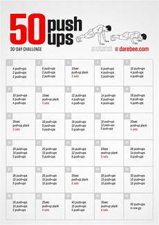 Push Up Chart For Beginners 50 Push Ups Challenge