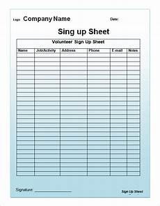Weekly Sign Up Sheet Sign Up Sheet Template 13 Download Free Documents In