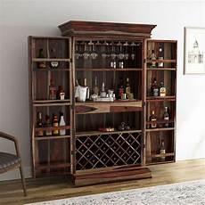 ohio rustic solid wood wine bar cabinet