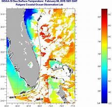 Sst Charts Rutgers Florida Coast Sea Surface Temperatures Sunday February 08