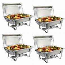4 pack catering stainless steel chafer chafing dish sets 8