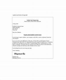 Inquiry Letter Template Free 8 Sample Business Enquiry Letter Templates In Pdf