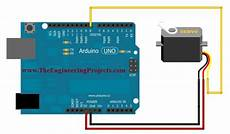 Arduino Servo Motor Control Servo Motor Control Using Arduino The Engineering Projects