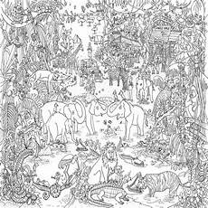 jungle safari colouring in poster by really posters