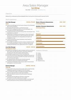 Area Manager Resumes Area Sales Manager Resume Samples And Templates Visualcv