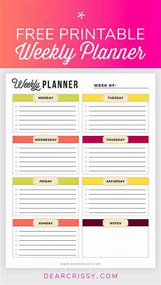 Printable Weekly Agenda 11 Free Printable Planners To Help Get Your Life Together