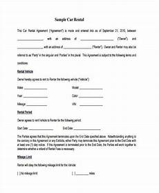 Auto Lease Agreement Free 8 Car Lease Agreement Samples In Ms Word Pdf