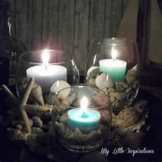 candele con conchiglie my inspirations diy centrotavola coastal con