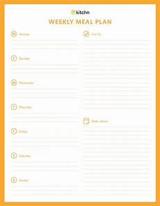 Dinner Plan Template Kitchn S Meal Plan Template Kitchn