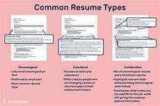 Types Of Resume Format Sample Different Resume Types