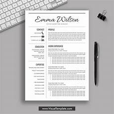 2020 2021 Pre Formatted Resume Template With Resume Icons