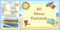 postcard template for powerpoint eyfs all about postcards powerpoint post discussion prompts