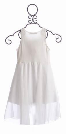 Flowers By Zoe Size Chart Flowers By Zoe Chiffon Dress Jeweled In White Size 4 Amp Lg