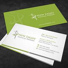Physical Therapist Business Cards Create A Unique Business Card And Letterhead For A