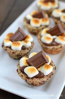 appetizers sweet picture of mini s more cups topper with hershey s