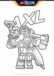 Lego Nexo Knights Ausmalbilder Axl Aaron Powered Up Coloring Pages Lego 174 Nexo Knights
