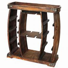 vintiquewise 8 bottle brown rustic wooden wine rack with