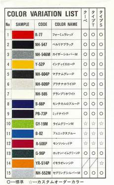 Honda Civic Color Code Chart Color Code For Nsx R