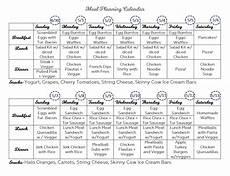 Meal Prep Calendar Meal Planning Calendar Schedule Of Meals Meal Schedule