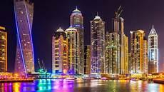 Dubai Night Lights Dubai City Of Skyscrapers Buildings Night Light