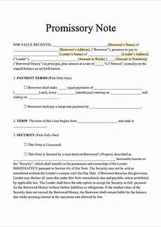Unsecured Promissory Note Template Free Promissory Note Template Download Secured