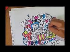 colorindo um desenho fofo doodle kawaii