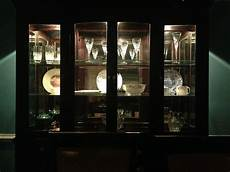 china cabinet with lights for the home