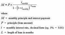 Payment Formula Cars Monthly Payment Formula