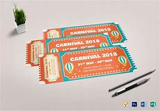 Design Event Tickets Online Carnival Event Ticket Design Template In Psd Word