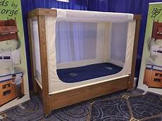 enclosure safety bed with high side mesh sides