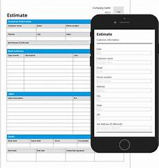 Job Estimates Job Estimate Mobile Form