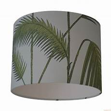 Palm Leaf Light Shade Cole Amp Son Palm Leaves Green On Blue Wallpaper Lampshade