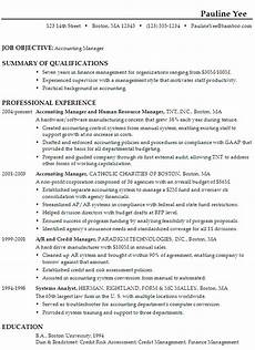 Accounting Objective Resume How To Write Resume For Accounting Manager Accountant