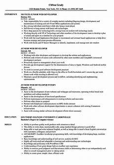 Wordpress Developer Resume Junior Web Developer Resume Ipasphoto