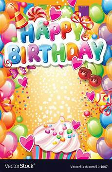 Free Birthday Cards Templates For Word Pin By Ngockim On Greeting Cards Happy Birthday Frame