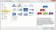 How To Make An Organizational Chart In Excel 2013 Creating Organisation Charts Using Excel