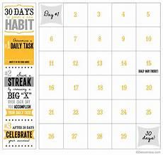 30 Day Calendar 30 Day Printable Calendar Detoxinista
